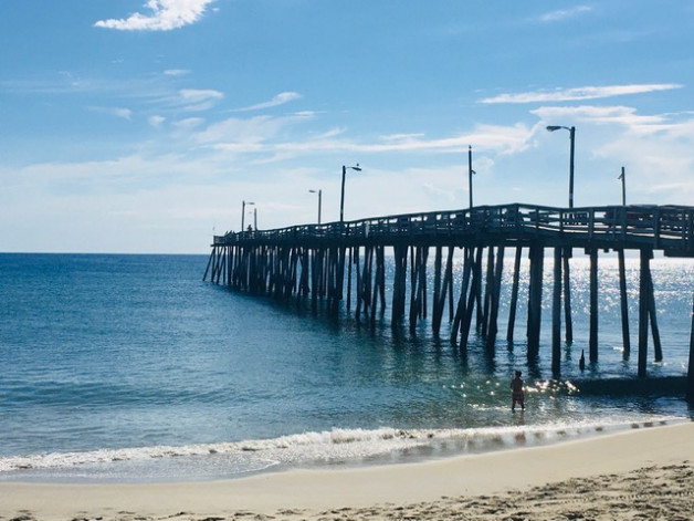 It's a beautiful day in the neighborhood . . . and on the Nags Head Pier